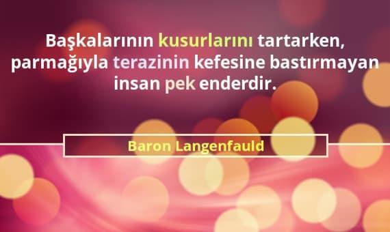 Baron Langenfauld Sözleri