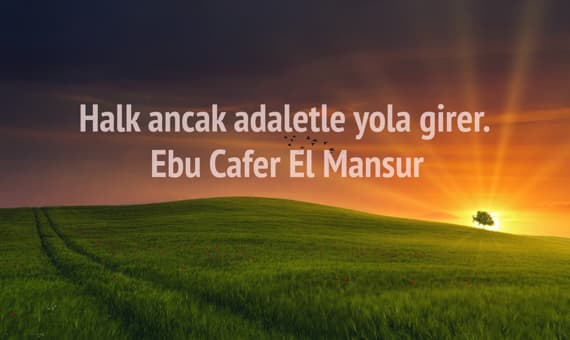 Ebu Cafer El Mansur Sozleri